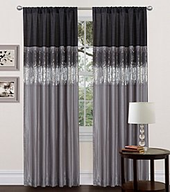 Lush Decor Night Sky Black and Grey Window Curtain
