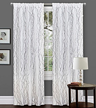 Lush Decor Romana Black and White Window Curtain
