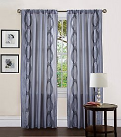 Lush Decor Talon Grey Valance and Window Curtain
