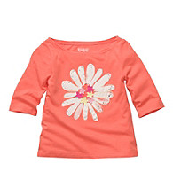 OshKosh B'Gosh® Baby Girls' Orange Long Sleeve Flower Tee