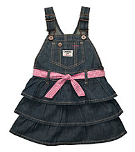 OshKosh B'Gosh® Baby Girls' Denim Tiered Jumper