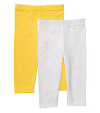 Carter's® Girls' 2T-4T White/Yellow 2-pk. Capri Leggings