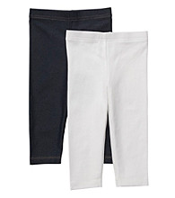 Carter's® Girls' 4-6X White/Denim 2-pk. Capri Leggings