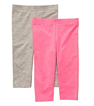 Carter's® Girls' 4-6X Pink/Grey Heather 2-pk. Capri Leggings