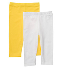 Carter's® Girls' 4-6X White/Yellow 2-pk. Capri Leggings