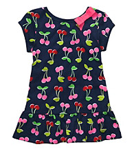 Carter's® Girls' 2T-4T Navy Short Sleeve Cherry Print Tunic