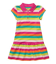 Carter's® Girls' 2T-4T Rainbow Striped Polo Dress