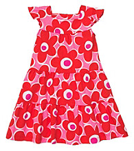Carter's® Girls' 2T-6X Pink/Red Floral Print Dress