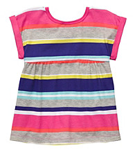 Carter's® Girls' 2T-4T Multi Striped Short Sleeve Tee