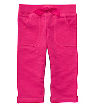 Carter's® Girls' 2T-6X Pink French Terry Capris