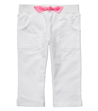 Carter's® Girls' 2T-4T White French Terry Capris
