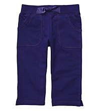 Carter's® Girls' 2T-4T Purple French Terry Capris