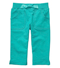 Carter's® Girls' 2T-4T Teal French Terry Capris