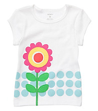Carter's® Girls' 2T-6X White Flower Tee