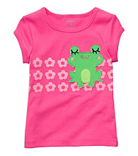 Carter's® Girls' 2T-6X Pink Short Sleeve Frog Tee