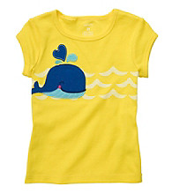 Carter's® Girls' 2T-6X Yellow Short Sleeve Whale Tee