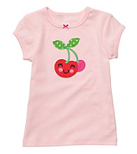 Carter's® Girls' 2T-4T Light Pink Short Sleeve Cherry Tee
