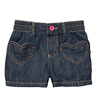 Carter's® Girls' 2T-6X Denim Heart Pocket Shorts