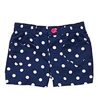 Carter's® Girls' 2T-6X Navy/White Polka-Dot Shorts
