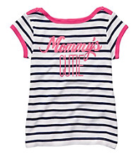 Carter's® Girls' 4-6X Navy/White Striped Short Sleeve
