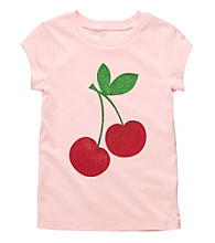 Carter's® Girls' 4-6X Pink Short Sleeve Cherry Tee