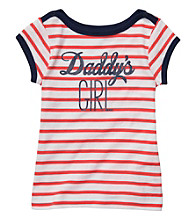 Carter's® Girls' 4-6X Orange/White Striped Short Sleeve