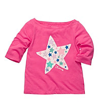 OshKosh B'Gosh® Girls' 2T-4T Pink Long Sleeve Star Tee