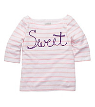 OshKosh B'Gosh® Girls' 2T-4T Pink/White Striped Long Sleeve