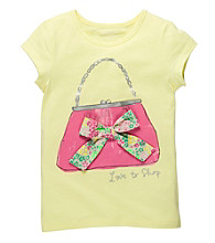 OshKosh B'Gosh® Girls' 4-6X Yellow Short Sleeve Handbag Tee