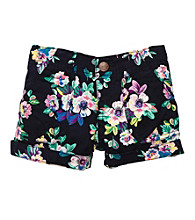 OshKosh B'Gosh® Girls' 4-6X Navy Floral Print Shorts