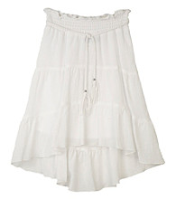 Amy Byer Girls' 7-16 White Gauze Skirt