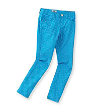 Jolt® Girls' 7-16 Blue Polka-Dot Printed Jean