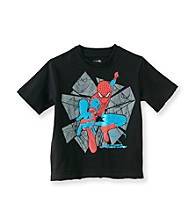 Spider-Man® Boys' 8-20 Black Short Sleeve Amazing Foil Tee