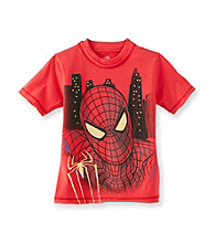 Spider-Man® Boys' 8-20 Red Short Sleeve Big Face Foil Tee