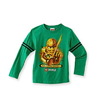 LEGO® Boys' 4-7 Green Long Sleeve Final Battle Ninjago Tee