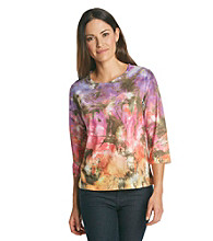 Breckenridge 3/4 Sleeve Sublimation Tee - Abstract Color