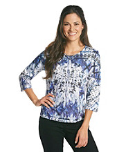 Breckenridge 3/4 Sleeve Sublimation Tee- Wonderland
