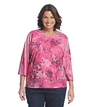Breckenridge® Plus Size 3/4 Sleeve Sublimated Tee