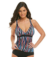 Relativity® D-Cup Multi Dot Surplice Swimwear Top