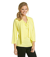 Evan-Picone® Cascade Solid Two-fer Top