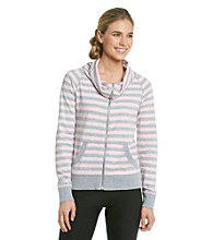 Calvin Klein Performance Stripe Funnelneck Jacket