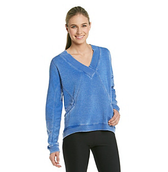 Calvin Klein Performance Distressed V-neck Pullover