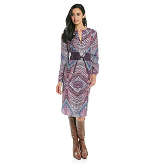 Anne Klein® Kaleidoscope Print Dress