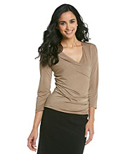 MSK® Surplice Social Top