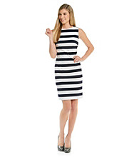 Calvin Klein Ponte Striped Day Dress
