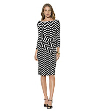 Lauren Ralph Lauren® Zig-Zag Print Sheath Dress