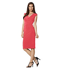 Lauren Ralph Lauren® Drapeneck Sheath Dress