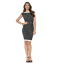 Lauren Ralph Lauren® Half-Moon Print Sheath Dress