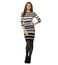 Lauren Ralph Lauren Abstract Striped Sweaterdress