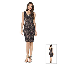 Lauren Ralph Lauren Floral Lace Sheath